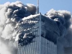 North Tower ablaze