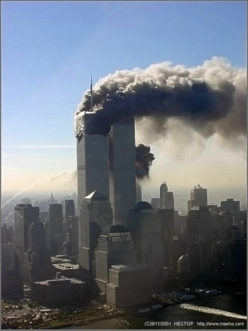 2nd plane ploughs into South Tower