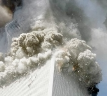 North Tower implodes