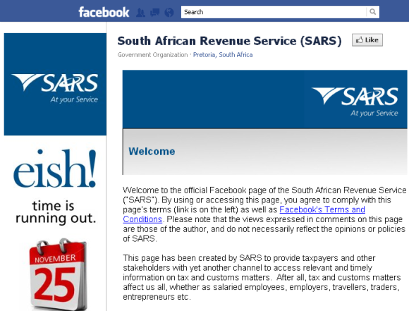 SARS Facebook Page