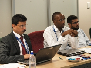 Mr. SP Sahu (WCO) and delegates from SACU Secretariat