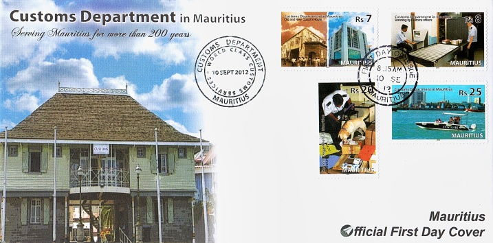Mauritius Customs 1st Day Cover