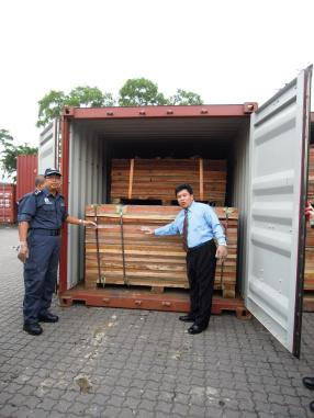 From outside, it looks like a pile of wood. Smugglers went to great lengths to hide the 1,500 pieces of Elephant tusks they were transporting from Togo to China via Malaysia.