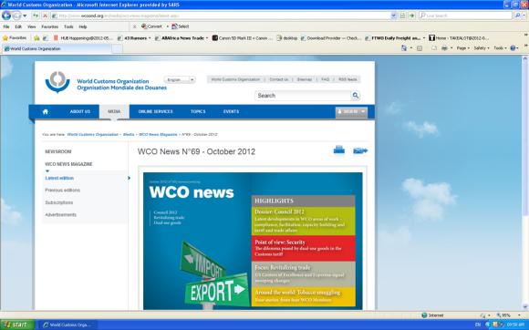 New look WCO Website
