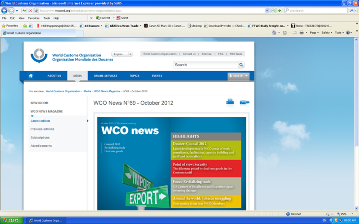 New look WCO Website