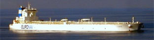 Biggest tanker, holding 503m litres of oil. Also strongest ship, carrying up to 442,000t. Launched 2003. Two remain in service. (Size - 380mx68m)
