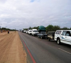 In the waiting... vehicle queue at Beitbridge