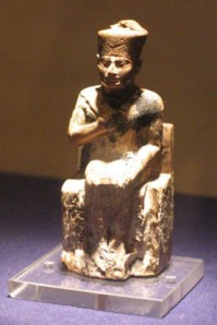 Statue of Khufu in the Cairo Museum