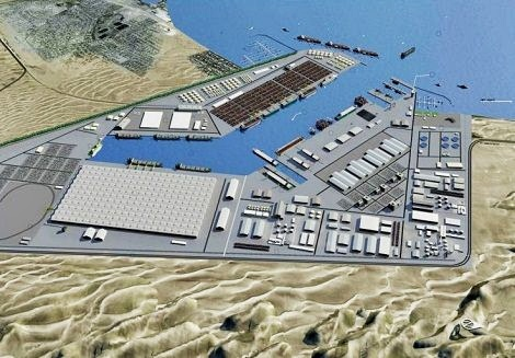 Computer-generated imagery of what the Walvis Bay North Port will look like when built. Image courtesy Namport.