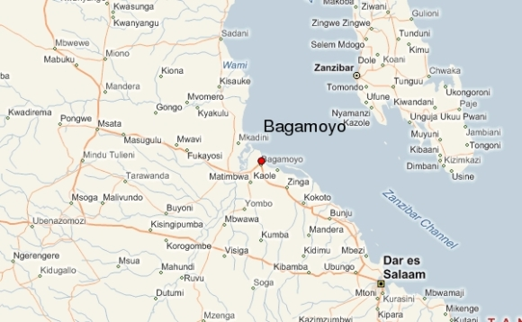 bagamoyo-map