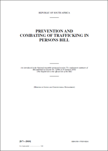 PREVENTION AND COMBATING OF TRAFFICKING IN PERSONS BILL