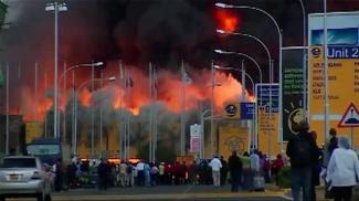 Fire rips through Nairobi airport