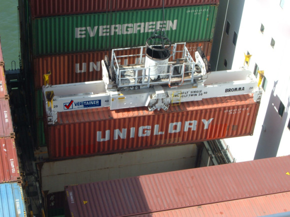 Port of Oakland - VertiTainer's  crane mounted scanner solution employs advanced passive scanning technology and sophisticated identification algorithms to detect and identify gamma and neutron sources in shipping containers as they are loaded or discharged from a container ship.