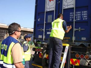 US Customs CSI Inspection in the Port of Durban, South Africa