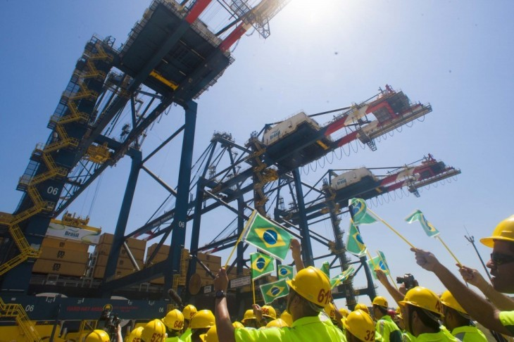 A gala ceremony was held last week to celebrate the official opening of BTP in Santos, Brazil, last week. (Image: APM Terminals)