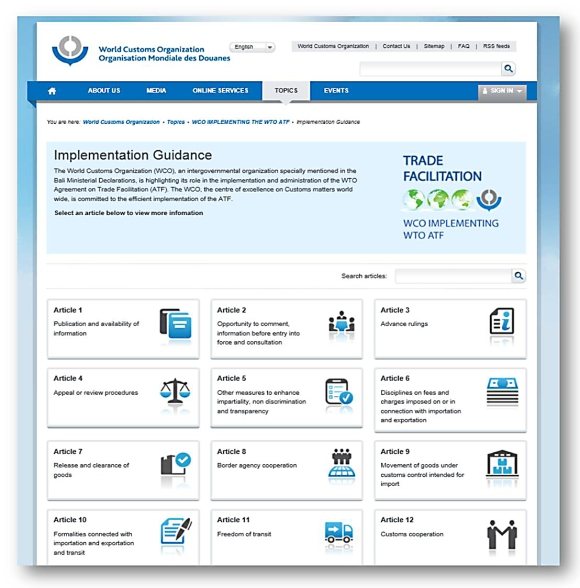 WCO Trade Facilitation Implementation Guidance 1