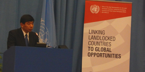 WCO Secretary General Kunio Mikuriya addressing delegates at the high-level opening ceremony of the Conference