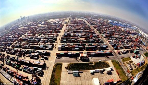 Port of Shanghai, China [Picture: DaliyMail.co.uk]