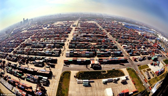 Port of Shanghai, China [Picture: DaliyMail.co.uk]
