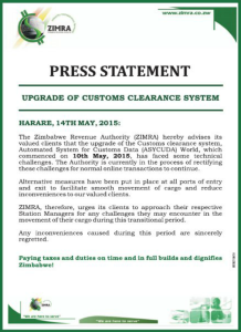 Zimra-press statement