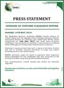 Zimra-press statement
