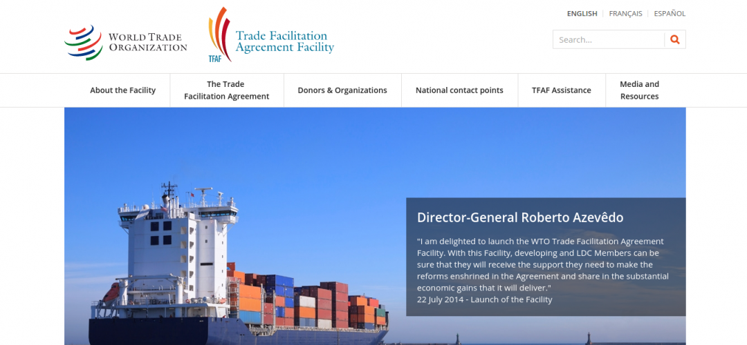 Wto Launches Dedicated Website For New Trade Facilitation Agreement