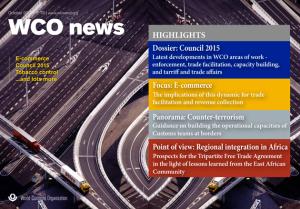 WCO News N°78 - October 2015