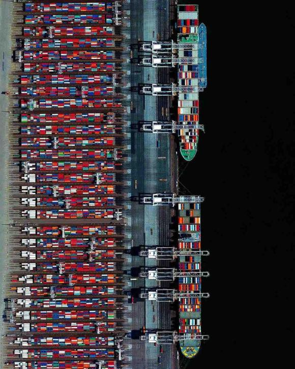 Aerial view of Rotterdam Container Terminal