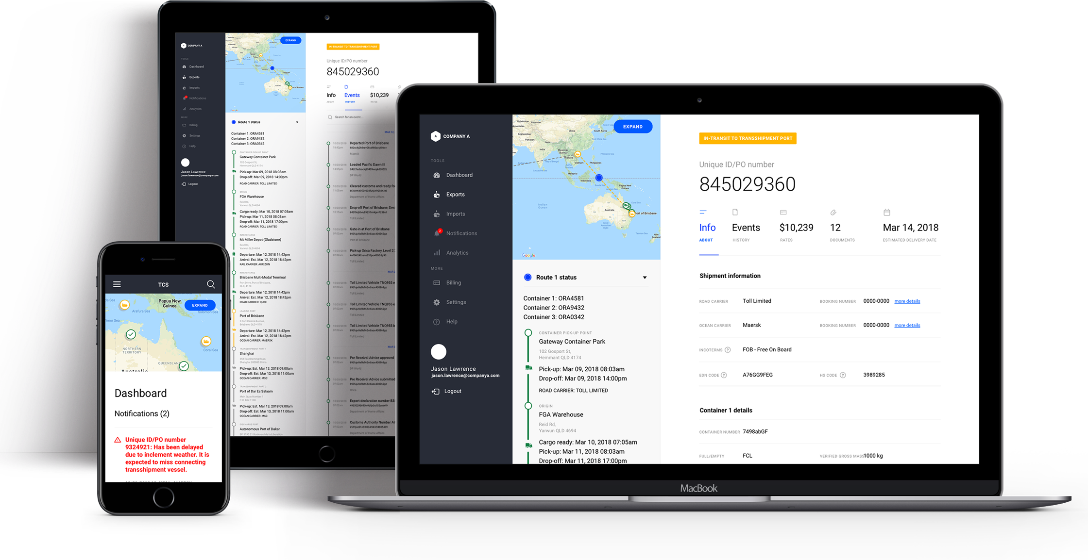 Trade Community System - Brisbane - Dashboard